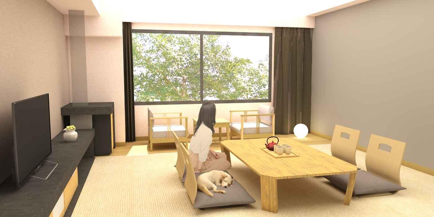富士マリオットホテル山中湖のドッグフレンドリールーム