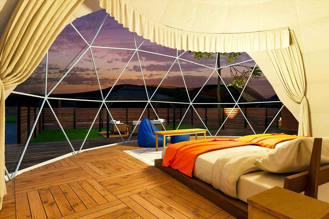 GLAMPISPA瀬戸内のドームテント