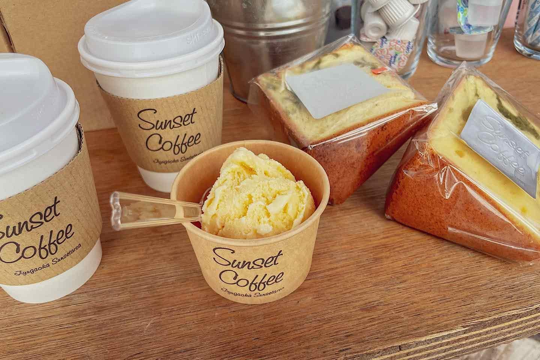 『Sunset Coffee』 アイス シフォンケーキ コーヒー