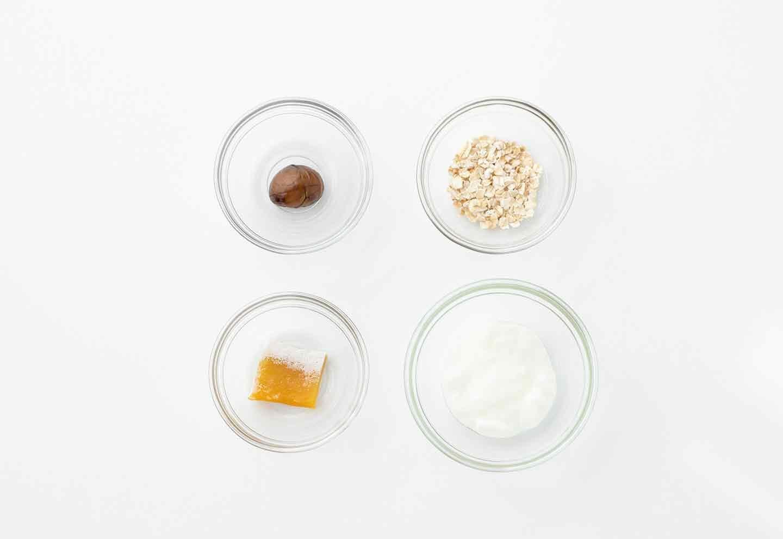 ②愛犬の皮膚のエイジングケアに!干し芋と甘栗のグラノーラ オートミール ヨーグルト 材料