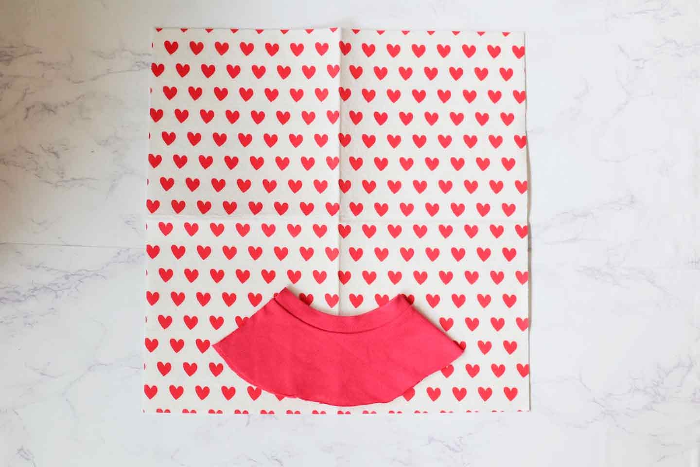 愛犬用エリザベスカラーの作り方 ベースの布も同じサイズできる