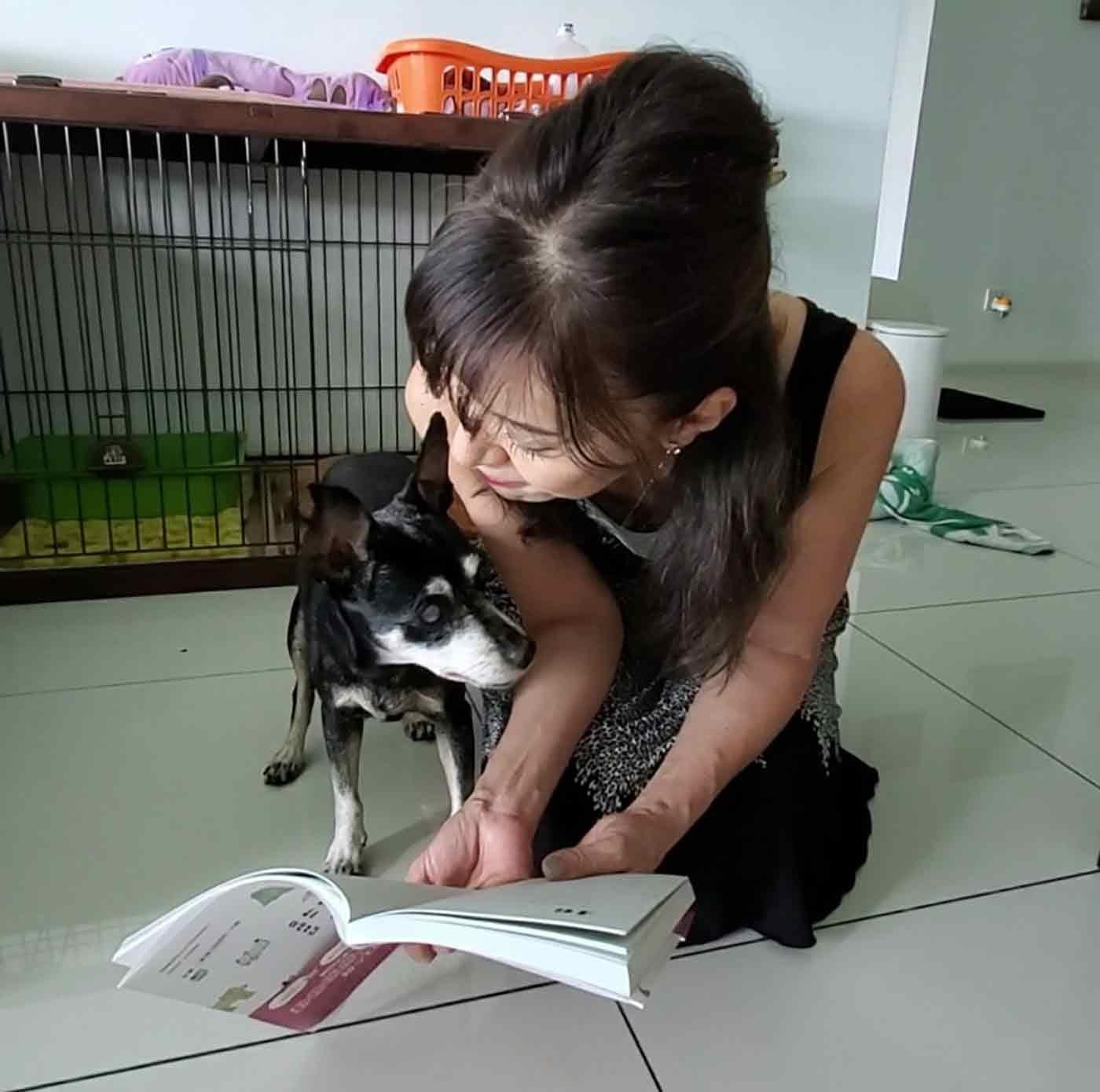 阿部先生と愛犬スウィング