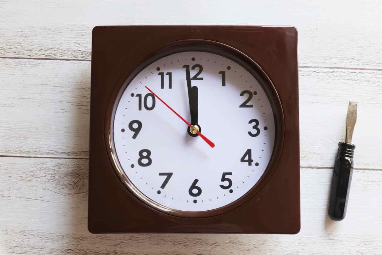 市販の時計のガラス板を外す