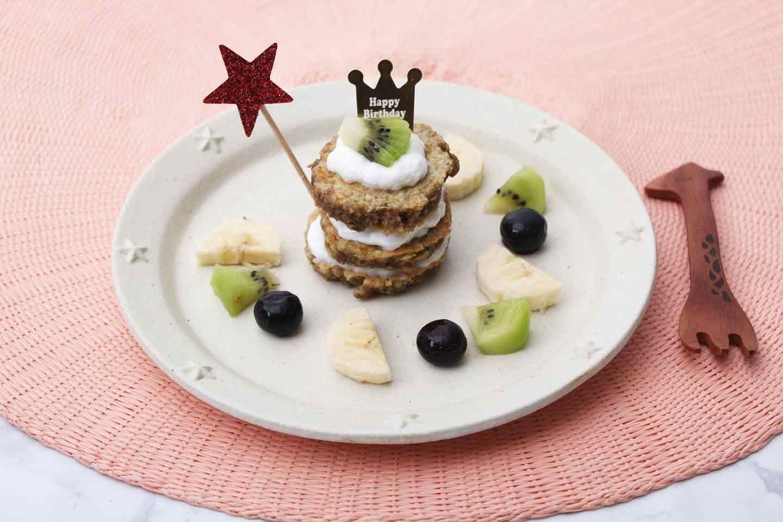 水切りヨーグルト カッテージチーズ 愛犬用イベントケーキにアレンジ 誕生日