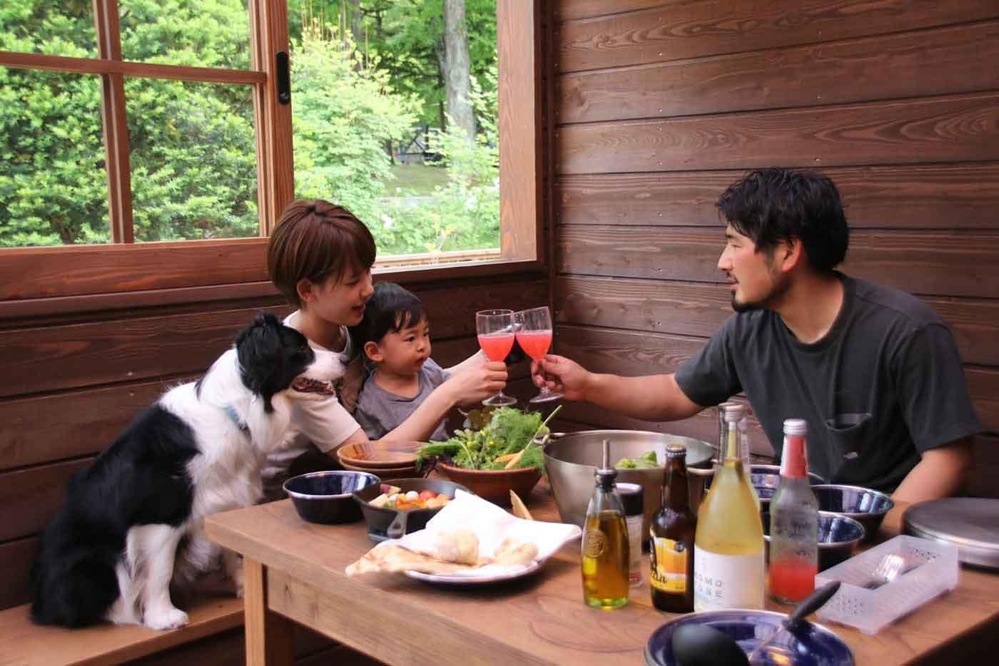 北軽井沢Sweet grassで楽しむ家族