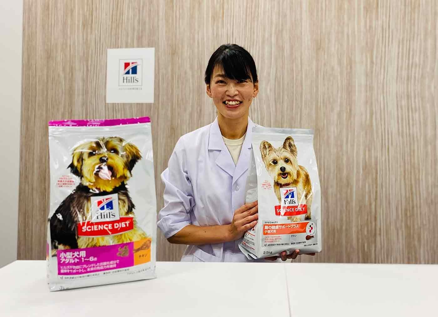 腸の健康サポートについて説明する獣医師の粂井先生