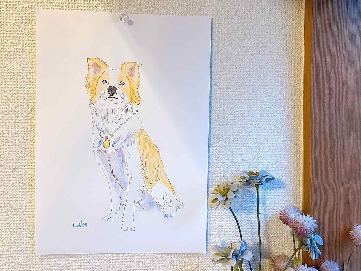 愛犬アート完成図