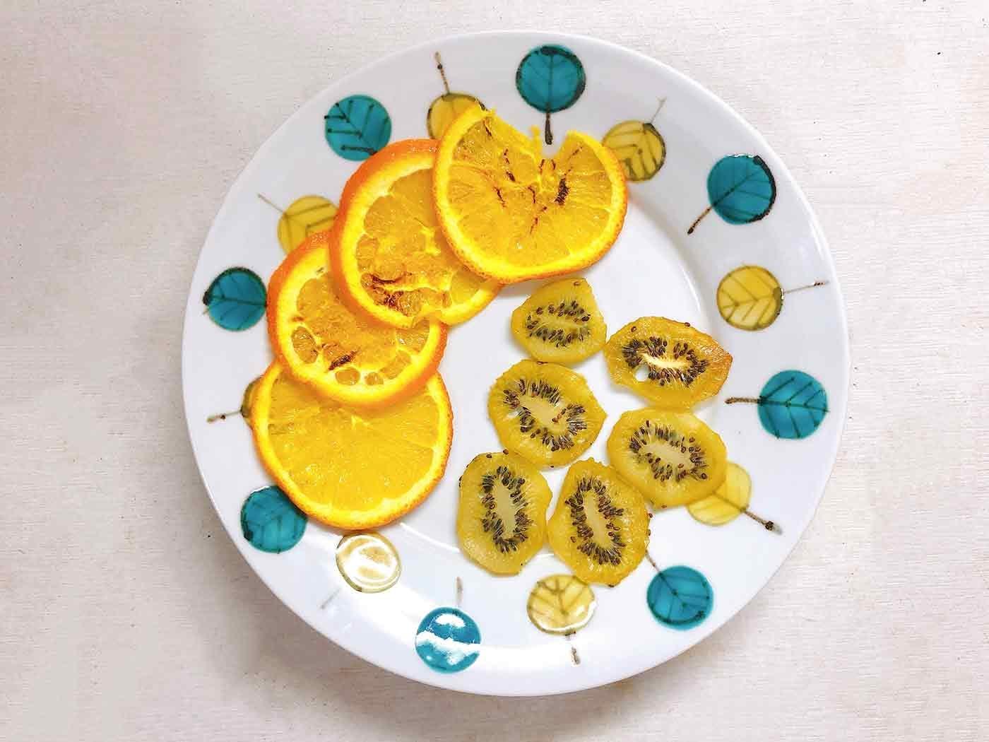加熱後のフルーツ