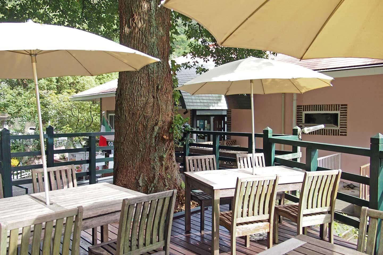 イタリアンレストラン「ミッレフィオーレ」のテラス席